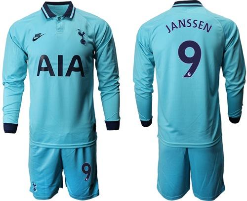 Tottenham Hotspur #9 Janssen Third Long Sleeves Soccer Club Jersey