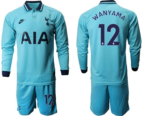 Tottenham Hotspur #12 Wanyama Third Long Sleeves Soccer Club Jersey