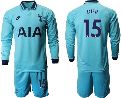Tottenham Hotspur #15 Dier Third Long Sleeves Soccer Club Jersey