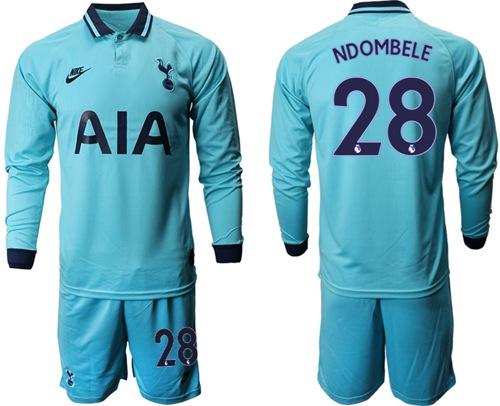 Tottenham Hotspur #28 Ndombele Third Long Sleeves Soccer Club Jersey