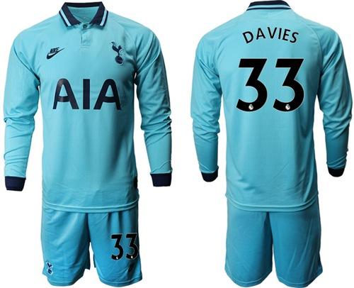 Tottenham Hotspur #33 Davies Third Long Sleeves Soccer Club Jersey