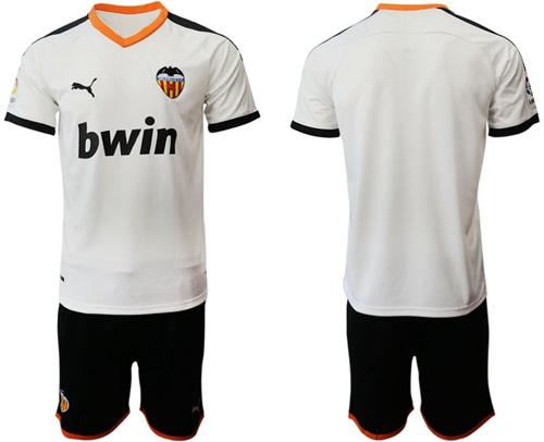 Valencia Blank Home Soccer Club Jersey