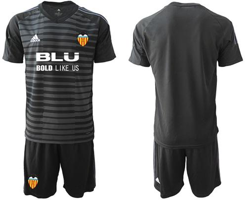Valencia Blank Black Goalkeeper Soccer Club Jersey