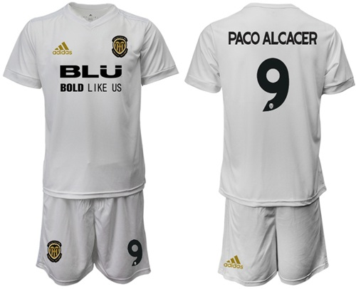Valencia #9 Paco Alcacer Home Soccer Club Jersey