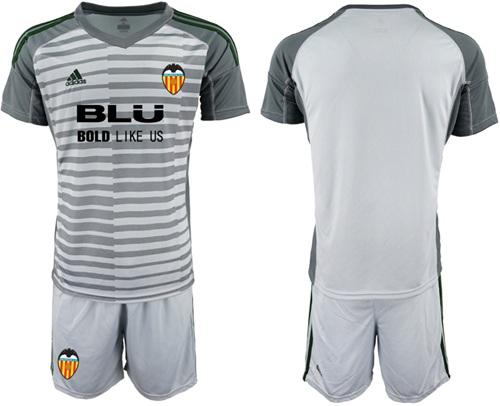 Valencia Blank Grey Goalkeeper Soccer Club Jersey