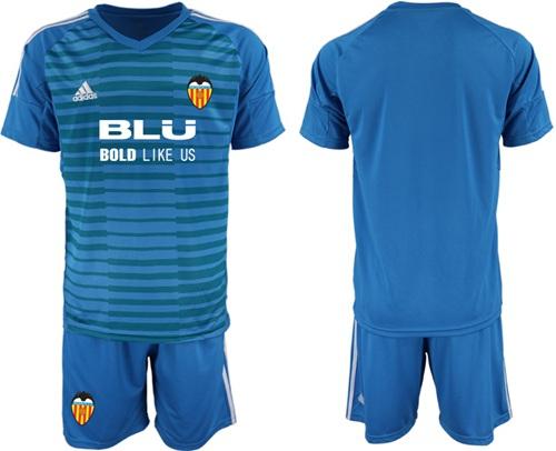 Valencia Blank Blue Goalkeeper Soccer Club Jersey