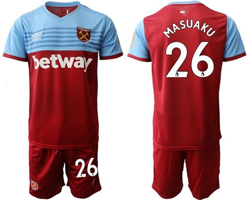 West Ham United #26 Masuaku Home Soccer Club Jersey