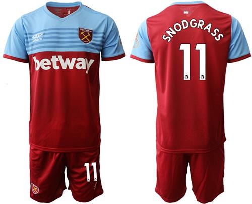 West Ham United #11 Snodgrass Home Soccer Club Jersey