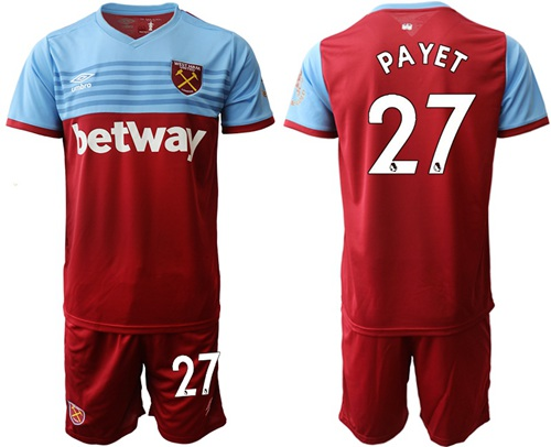 West Ham United #27 Payet Home Soccer Club Jersey