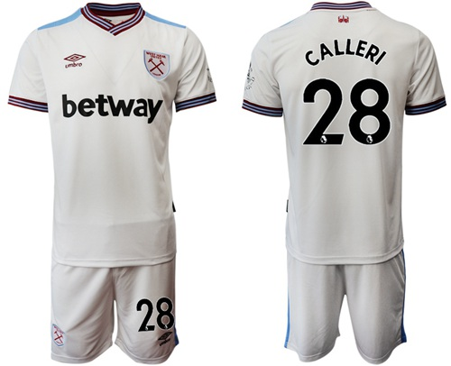 West Ham United #28 Calleri Away Soccer Club Jersey