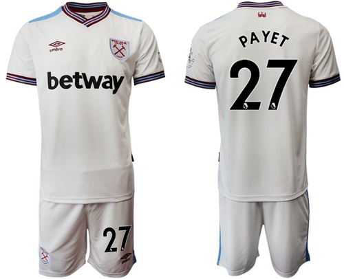 West Ham United #27 Payet Away Soccer Club Jersey