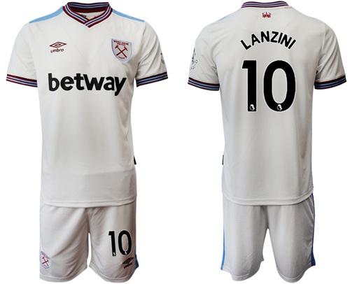 West Ham United #10 Lanzini Away Soccer Club Jersey