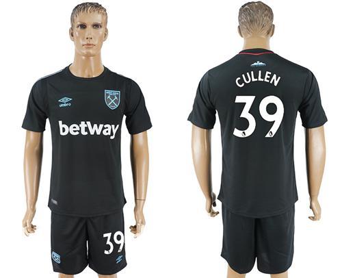 West Ham United #39 Cullen Away Soccer Club Jersey