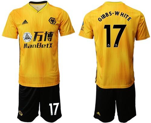 Wolves #17 Gibbs-White Home Soccer Club Jersey