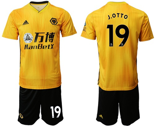 Wolves #19 J.OTTO Home Soccer Club Jersey