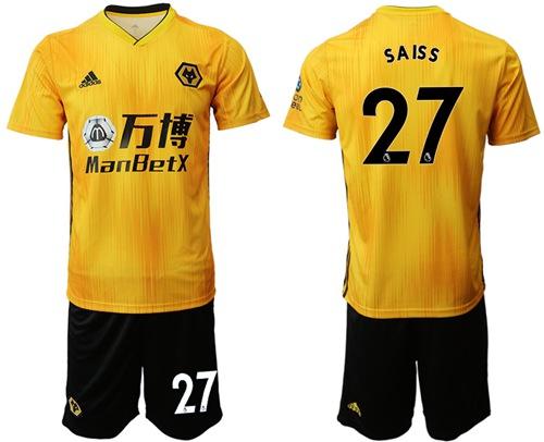 Wolves #27 Saiss Home Soccer Club Jersey