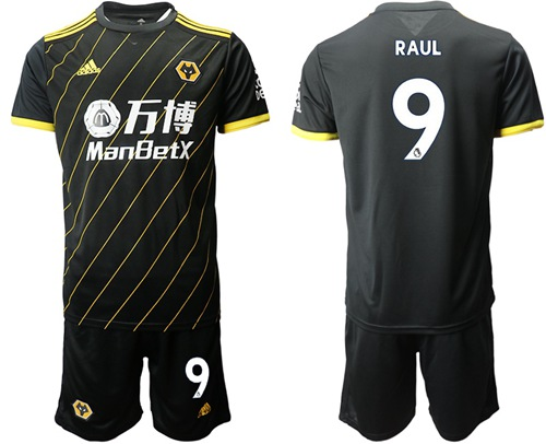 Wolves #9 Raul Away Soccer Club Jersey