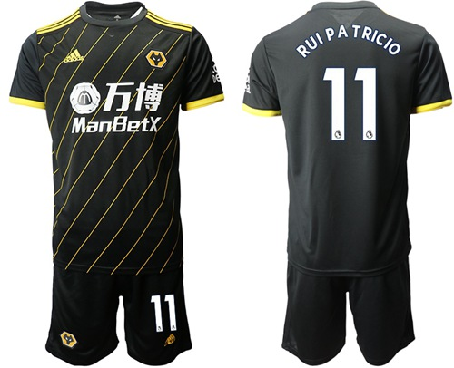 Wolves #11 Rui Pa Tricio Away Soccer Club Jersey