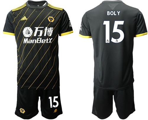 Wolves #15 Boly Away Soccer Club Jersey
