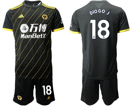 Wolves #18 DIO GO.J Away Soccer Club Jersey