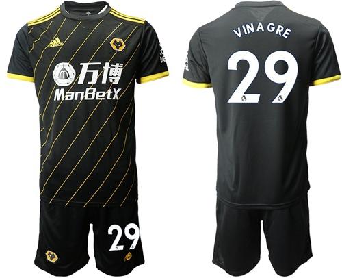 Wolves #29 Vinagre Away Soccer Club Jersey