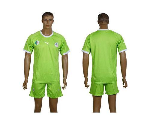 Algeria Blank Green Away Soccer Country Jersey