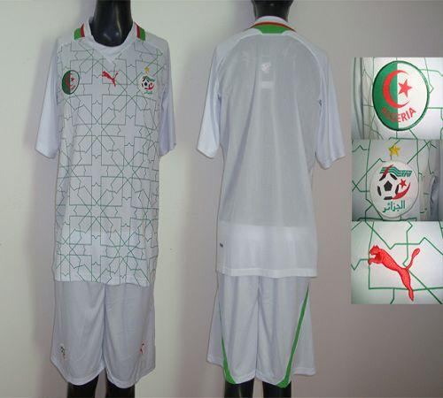 Algeria Blank White Home 2012/2013 Soccer Country Jersey