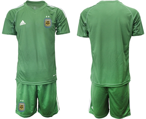 Argentina Blank Army Green Goalkeeper Soccer Country Jersey