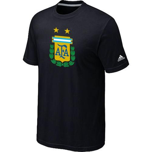 Adidas Argentina 2014 World Short Sleeves Soccer T-Shirt Black