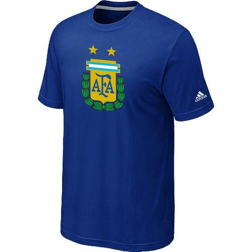 Adidas Argentina 2014 World Short Sleeves Soccer T-Shirt Blue