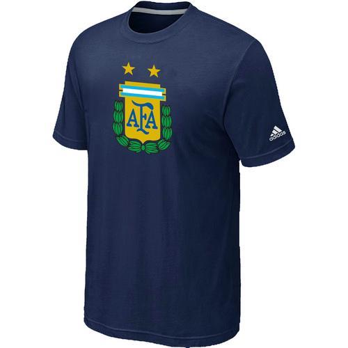 Adidas Argentina 2014 World Short Sleeves Soccer T-Shirt Dark Blue