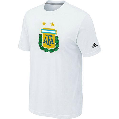 Adidas Argentina 2014 World Short Sleeves Soccer T-Shirt White
