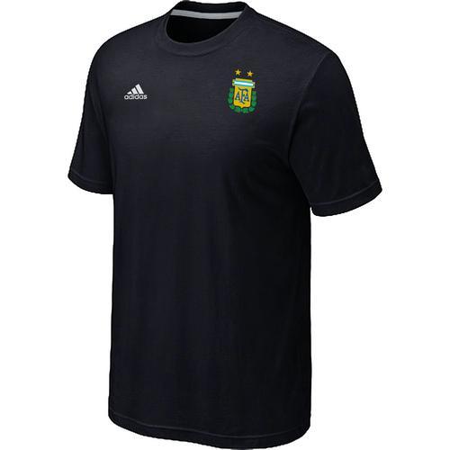 Adidas Argentina 2014 World Small Logo Soccer T-Shirt Black