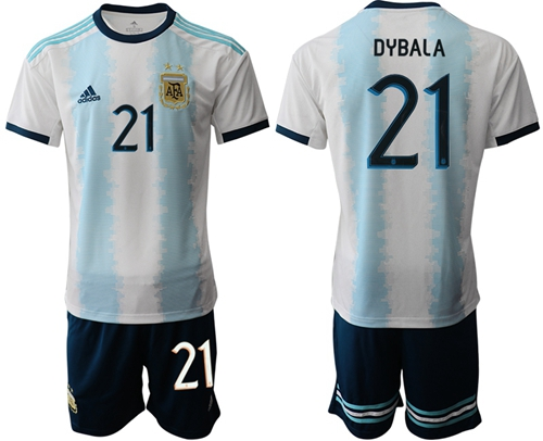 Argentina #21 Dybala Home Soccer Country Jersey