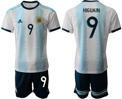 Argentina #9 Higuain Home Soccer Country Jersey