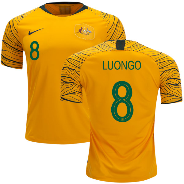 Australia #8 Luongo Home Soccer Country Jersey
