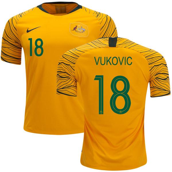 Australia #18 Vukovic Home Soccer Country Jersey