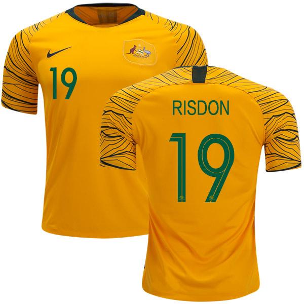 Australia #19 Risdon Home Soccer Country Jersey