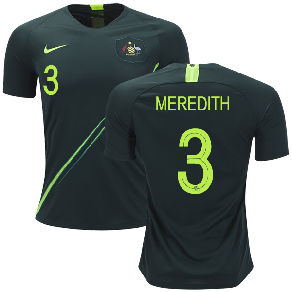 Australia #3 Meredith Away Soccer Country Jersey