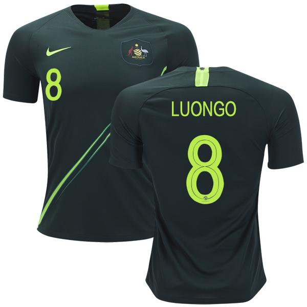 Australia #8 Luongo Away Soccer Country Jersey