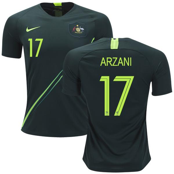 Australia #17 Arzani Away Soccer Country Jersey