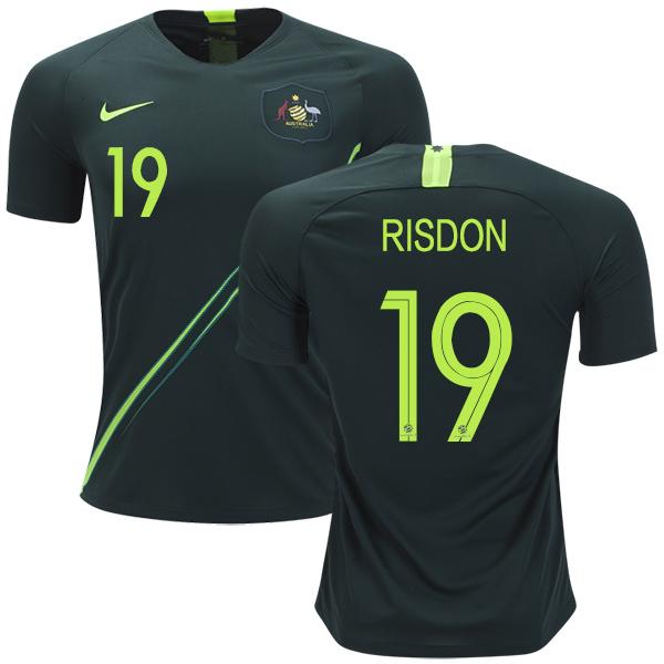 Australia #19 Risdon Away Soccer Country Jersey