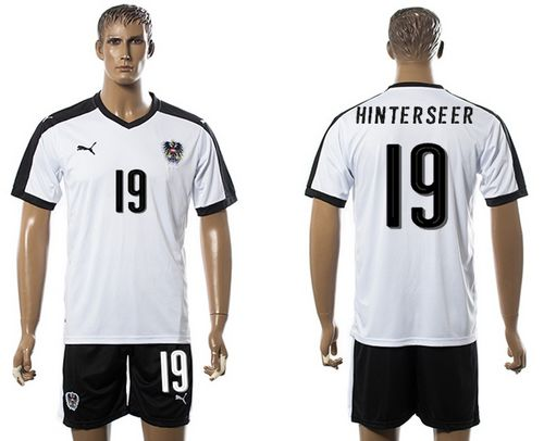 Austria #19 Hinterseer White Away Soccer Country Jersey