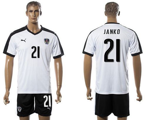 Austria #21 Janko White Away Soccer Country Jersey