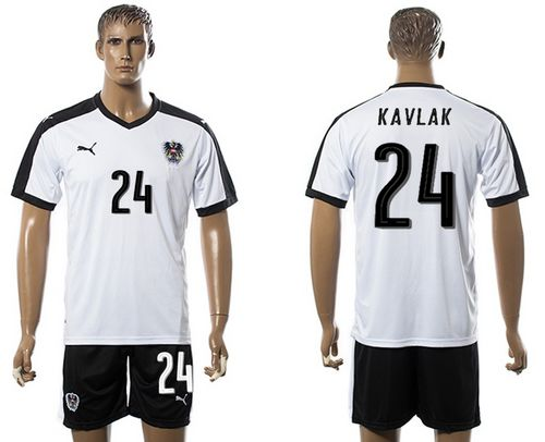 Austria #24 Kavlak White Away Soccer Country Jersey