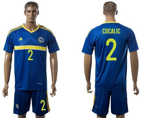 Bosnia Herzegovina #2 Cocalic Home Soccer Country Jersey