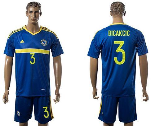 Bosnia Herzegovina #3 Bicakcic Home Soccer Country Jersey