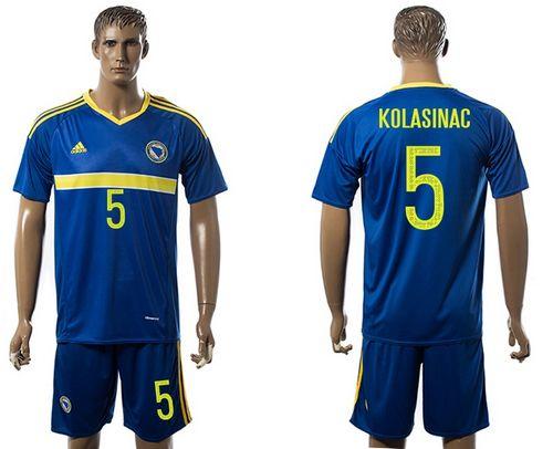 Bosnia Herzegovina #5 Kolasinac Home Soccer Country Jersey