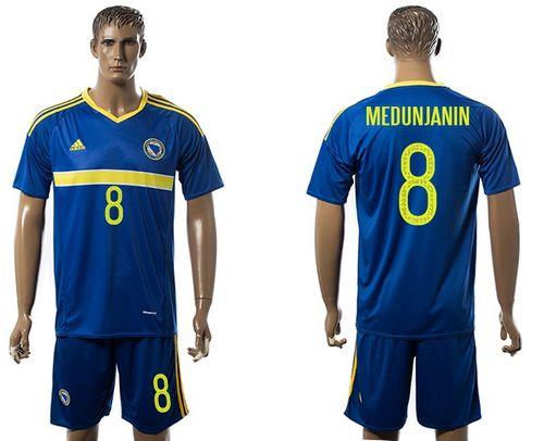 Bosnia Herzegovina #8 Medunjanin Home Soccer Country Jersey