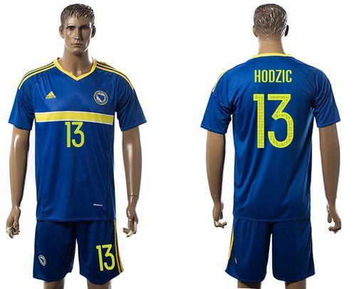 Bosnia Herzegovina #13 Hodzic Home Soccer Country Jersey